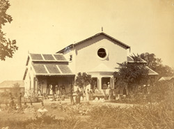 General exterior view of the Free Church of Scotland Mission Orphanage, Nagpur